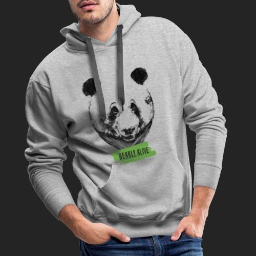 Panda bearly alive - Sweat-shirt à capuche Premium pour hommes