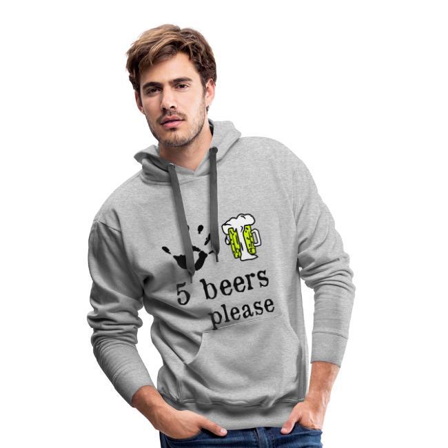 5 beers please design
