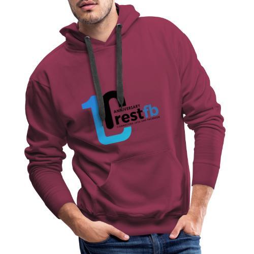 10years RestFB - anniversary logo - Men's Premium Hoodie