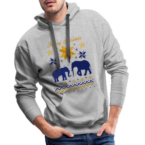 Merry Christmas I Elefanten - Männer Premium Hoodie