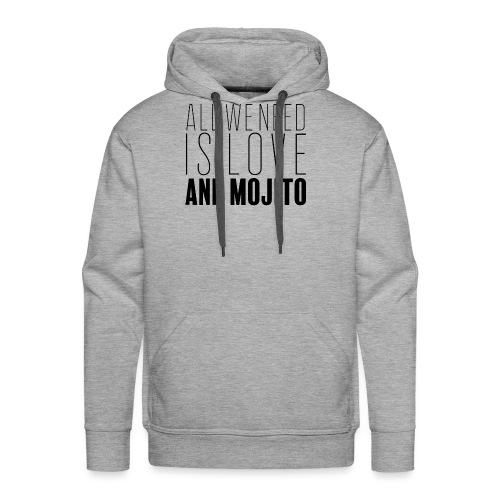Love and Mojito - Sweat-shirt à capuche Premium pour hommes