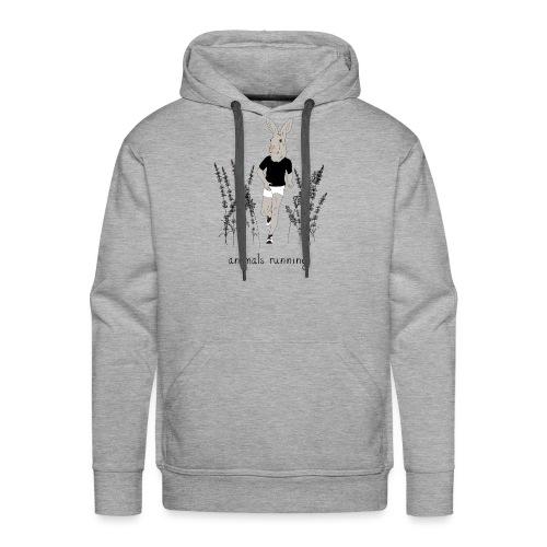 Lièvre running - Sweat-shirt à capuche Premium pour hommes