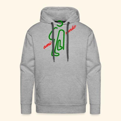 Amirando44 rouge vert fonce - Sweat-shirt à capuche Premium pour hommes