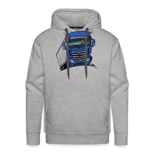 0807 M truck blauw trailer - Mannen Premium hoodie