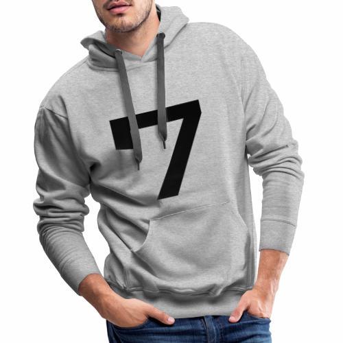 Numéro 7 - Sweat-shirt à capuche Premium pour hommes