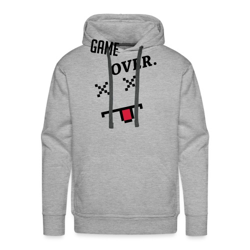 Game Over Geek Smiley - Men's Premium Hoodie