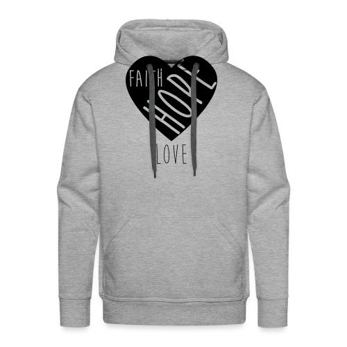 Faith Hope Love - Heart - Männer Premium Hoodie