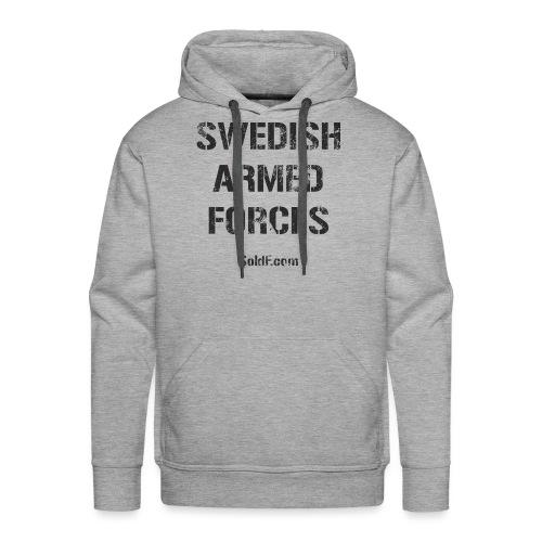 Swedish Armed Forces + SWE FLAG - Premiumluvtröja herr