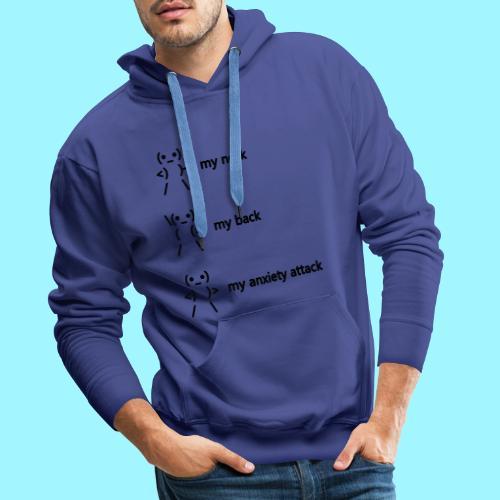 neck back anxiety attack - Men's Premium Hoodie