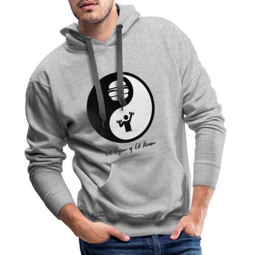 Gym y Ñam - Sudadera con capucha premium para hombre