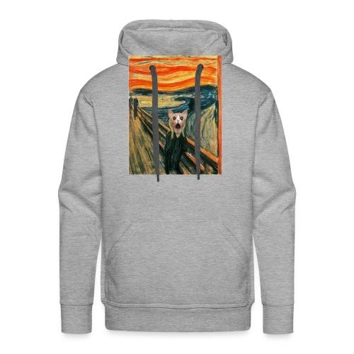 cat scream - Sweat-shirt à capuche Premium pour hommes