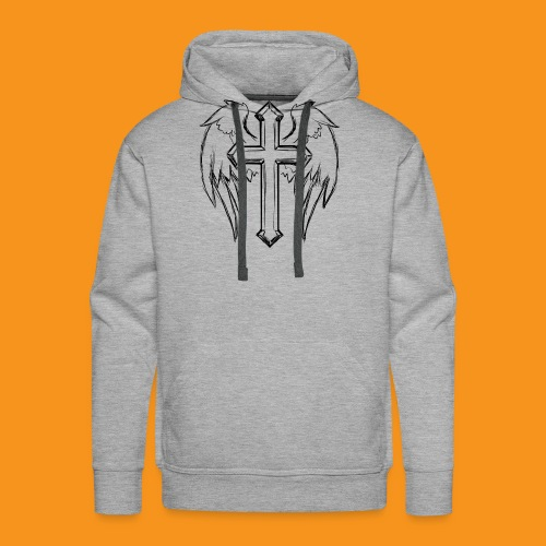 winged cross - Men's Premium Hoodie