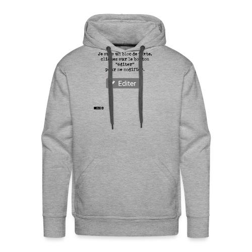 Je suis un bloc de texte, cliquez sur le bouton - Sweat-shirt à capuche Premium pour hommes
