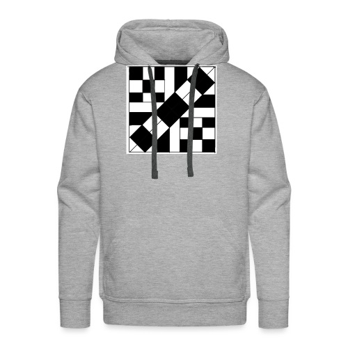checker patterned art - Men's Premium Hoodie