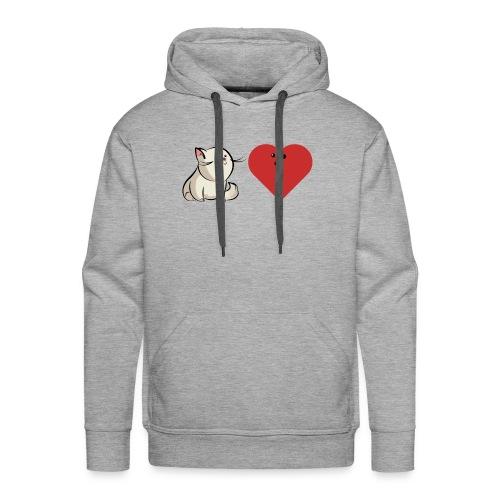 Loving cat - Sweat-shirt à capuche Premium pour hommes