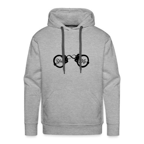 You & Me 4ver menotte - Sweat-shirt à capuche Premium pour hommes