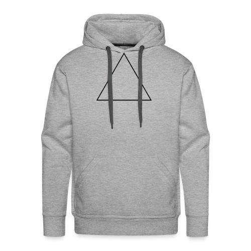 Regular_triangle.svg.png - Sweat-shirt à capuche Premium pour hommes