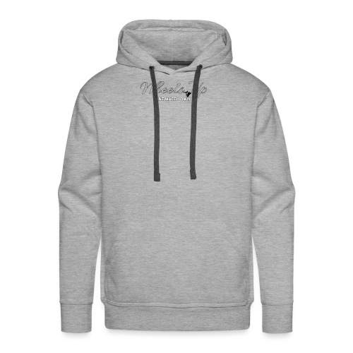 wheels up black figure - Men's Premium Hoodie