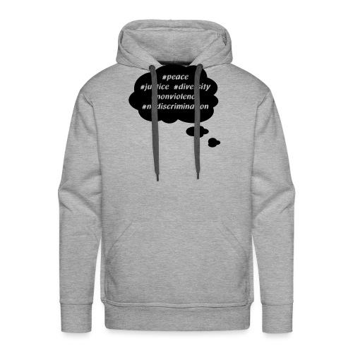 peace-justice_vereinfacht - Männer Premium Hoodie