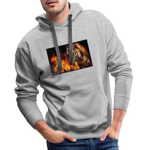 Tiger Flame - Herre Premium hættetrøje