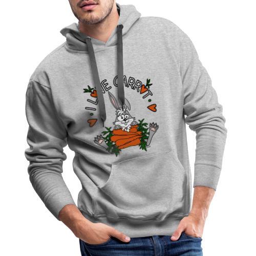 Lapin, Kaninchen, Coniglio, Humour, Legumes, Vegan - Sweat-shirt à capuche Premium pour hommes