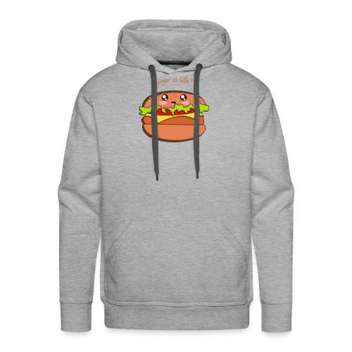hamburger - Sweat-shirt à capuche Premium pour hommes