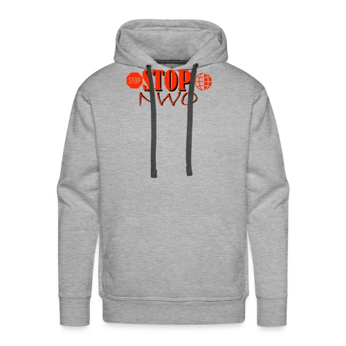 STOPNWO1 - Bluza męska Premium z kapturem