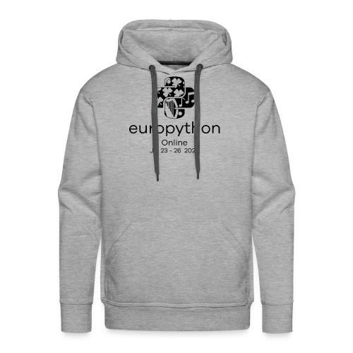 EuroPython 2020 - Vertical Black Logo - Men's Premium Hoodie