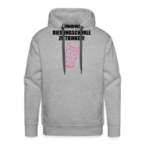 Glück trinken - Dubbeglas - Männer Premium Hoodie