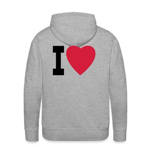 create your own I LOVE clothing and stuff - Men's Premium Hoodie