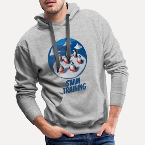 Pinguine beim Schwimmunterricht - Men's Premium Hoodie