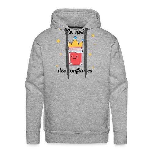 Le roi des confitures - Sweat-shirt à capuche Premium pour hommes