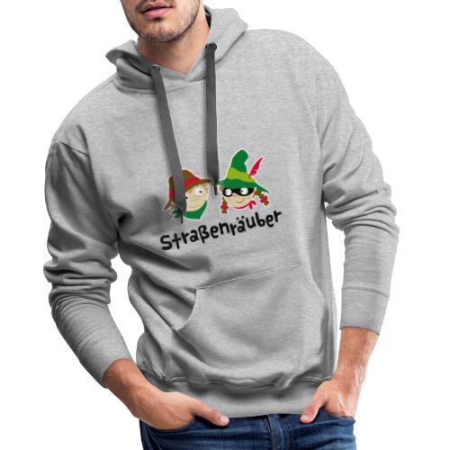 Straßenräuber Logo schwarz Vorder-u.Rückseite - Männer Premium Hoodie