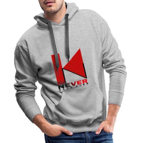 NEVER BACK DOWN - Sweat-shirt à capuche Premium pour hommes