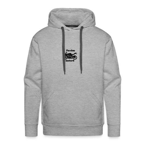 Passion motard - Sweat-shirt à capuche Premium pour hommes