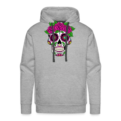 Skully Flower Head - Skuss for Peace - Männer Premium Hoodie