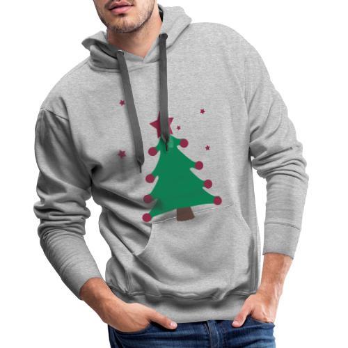 sapin de(avec étoiles),fêtes,formes,cadeaux - Sweat-shirt à capuche Premium pour hommes