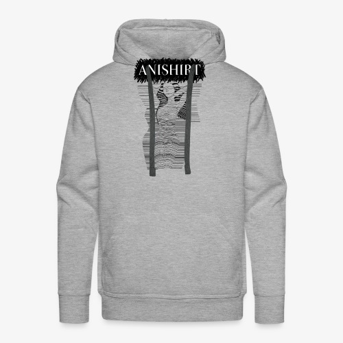 ANISHIRT LineLady / Naked woman on the line - Men's Premium Hoodie