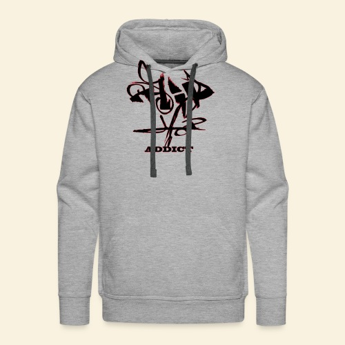 hip hop addict - Sweat-shirt à capuche Premium pour hommes