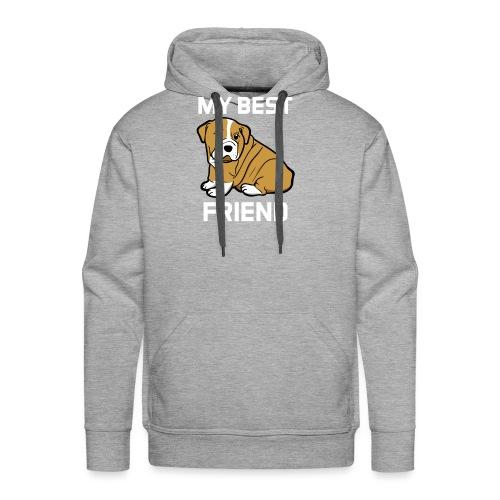 My Best Friend - Hundewelpen Spruch - Männer Premium Hoodie