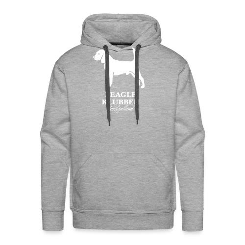 Hvidt logo - Herre Premium hættetrøje