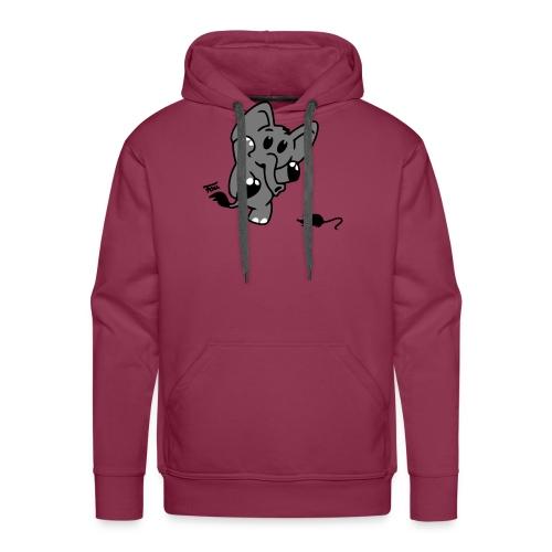 Elefant + Maus - colored - Männer Premium Hoodie