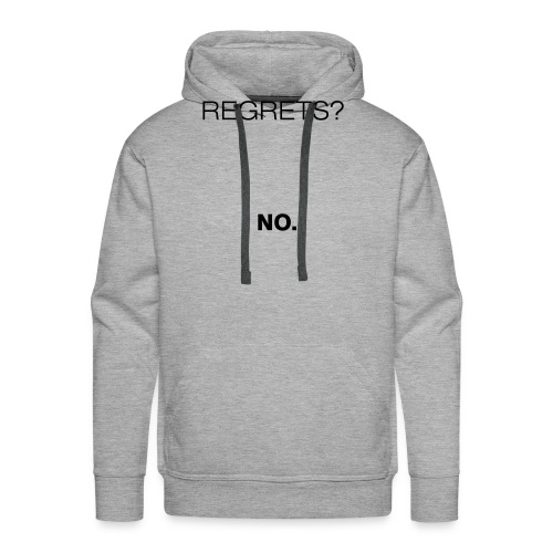 No Regrets - Men's Premium Hoodie