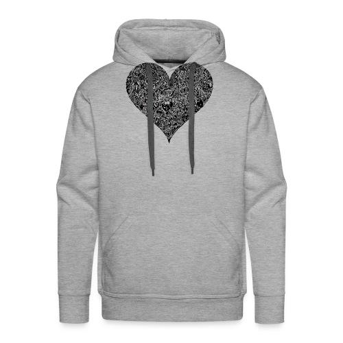 Herz Doodle Style - Männer Premium Hoodie