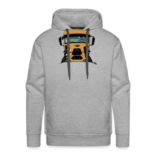 0812 F truck geel - Mannen Premium hoodie