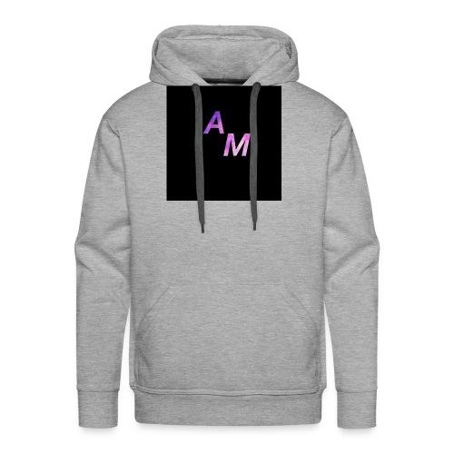 logo de t shirt v noir - Sweat-shirt à capuche Premium pour hommes
