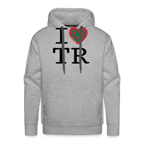 I Love TR - Felpa con cappuccio premium da uomo
