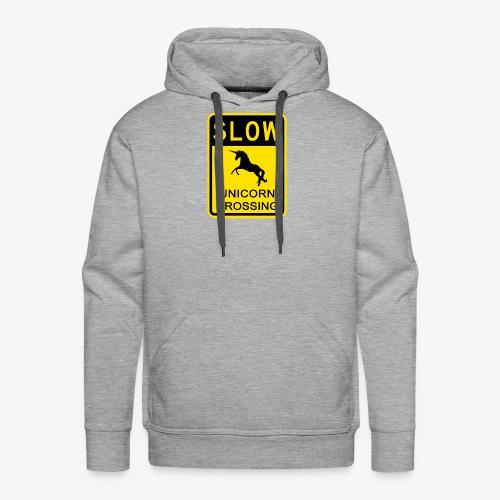 Ralentir ! Passage de licorne - Sweat-shirt à capuche Premium pour hommes