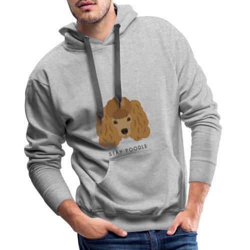 Poodle Brown - Felpa con cappuccio premium da uomo