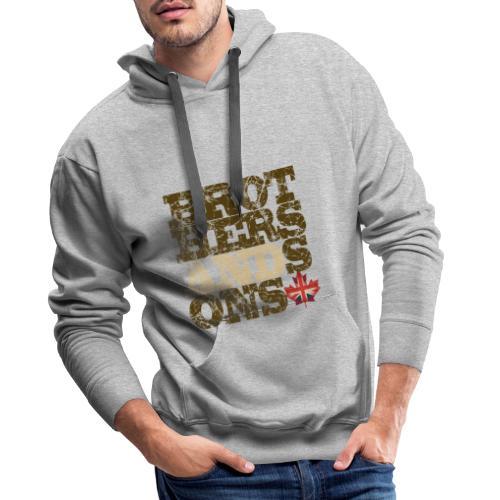 Brothers and Sons logo - dark design - Men's Premium Hoodie
